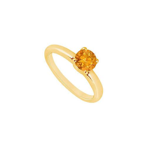 Citrine Ring : 14K Yellow Gold - 1.00 CT TGW