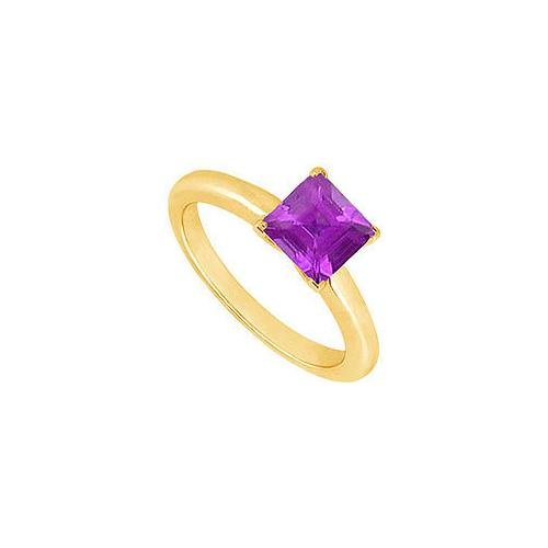 Amethyst Ring : 14K Yellow Gold - 0.75 CT TGW