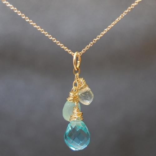 Necklace 1-29 - choice of stone - Gold
