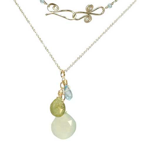 Necklace 1-29 - choice of stone - RoseGold