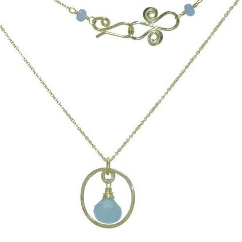 Necklace 1-61 - choice of stone - RoseGold