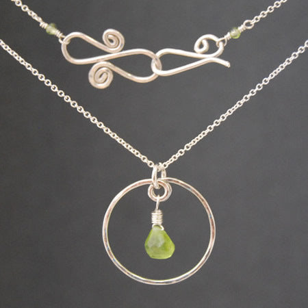 Necklace 1-61 - choice of stone - Silver