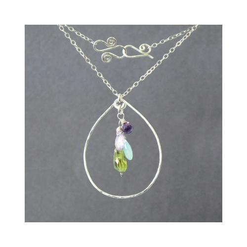 Necklace 1-07 - choice of stone - Silver