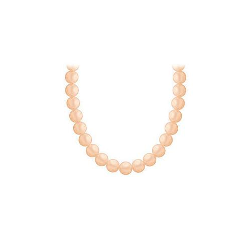 Akoya Cultured Pearl Necklace : 14K Yellow Gold  4 MM