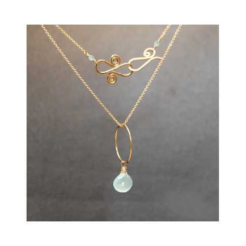 Necklace 175 - choice of stone - RoseGold