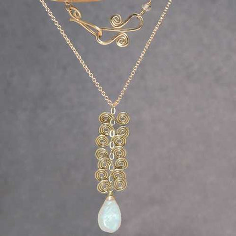 Necklace 213 - choice of stone - RoseGold