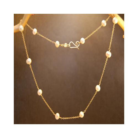 Necklace 248 - choice of stone - Gold
