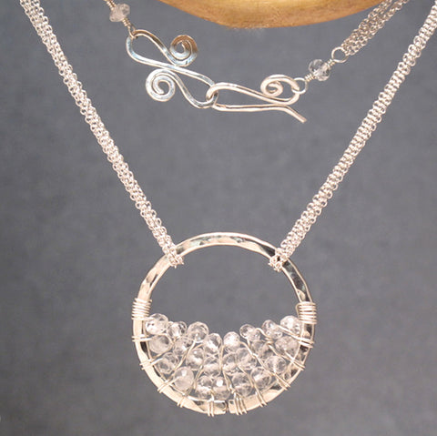 Necklace 271 - choice of stone - Silver