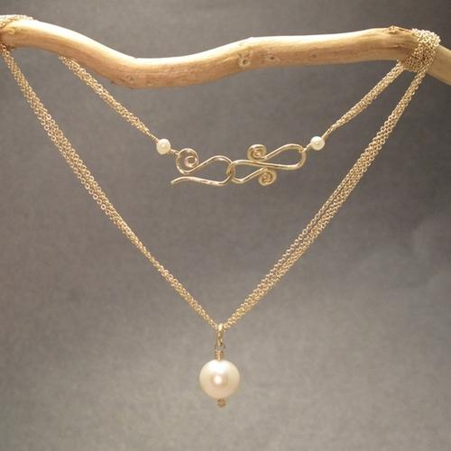 Necklace 272 - choice of stone - Gold