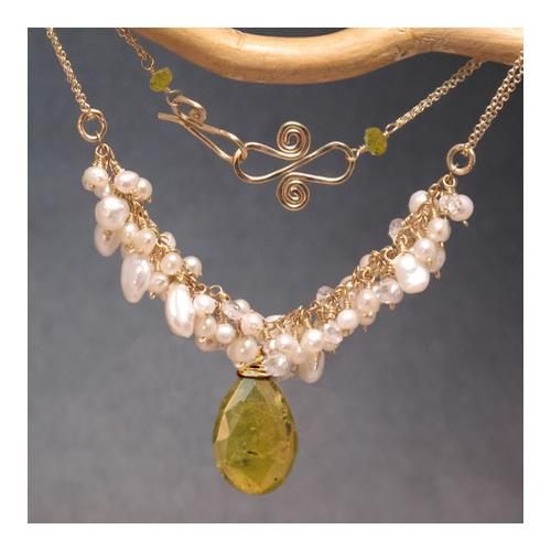 Necklace 293 - choice of stone - Gold