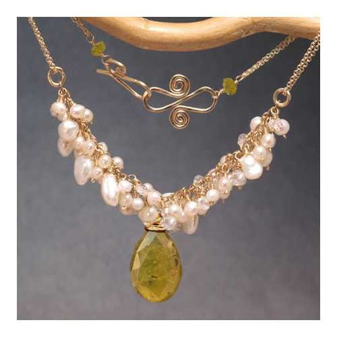 Necklace 293 - choice of stone - RoseGold