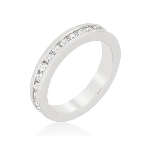 set ring front band ct channel diamond cut bands baguette eternity setting in