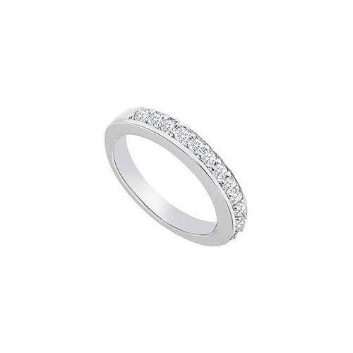14K White Gold : Diamond Wedding Band 0.50 CT TDW