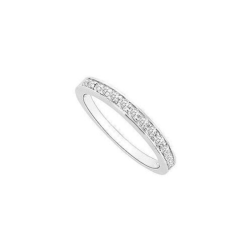 Diamond Wedding Band : 14K White Gold - 0.30 CT Diamonds