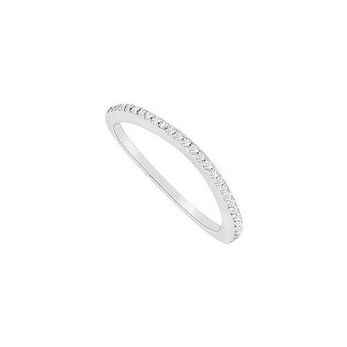 Diamond Wedding Band : 14K White Gold - 0.15 CT Diamonds