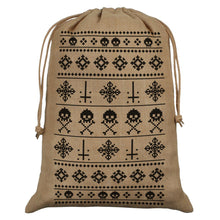 Anti-Christmas Hessian Santa Sack