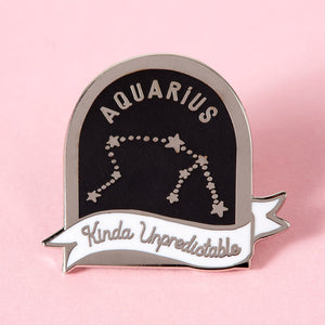 Aquarius Star Sign Enamel Pin