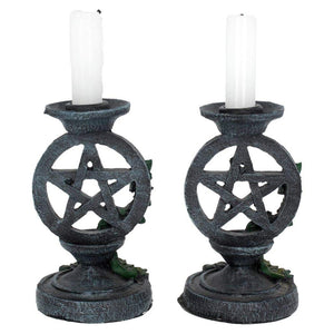 Pentacle and Ivy Candlesticks