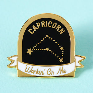 Capricorn Star Sign Enamel Pin