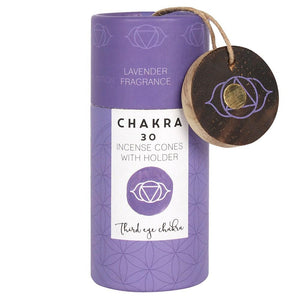 Lavender Third Eye Chakra Incense Cone Gift Pack