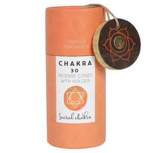 Orange Sacral Chakra Incense Cone Gift Pack