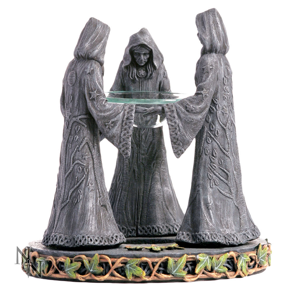 Cloaked Figure Magick Circle Oil Burner