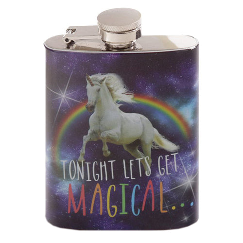 Cosmic Unicorn Stainless Steel 4oz Hip Flask