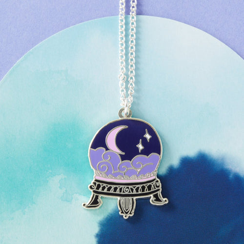 Crystal Ball Enamel Necklace