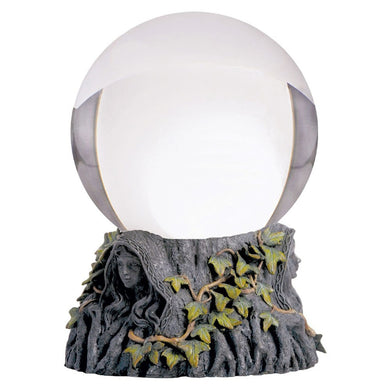 Crystal Ball with Maiden Mother and Crone Stand