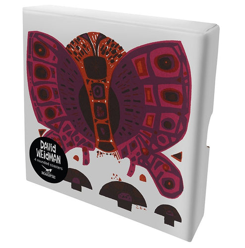 David Weidman Butterfly Coasters and Gift Box