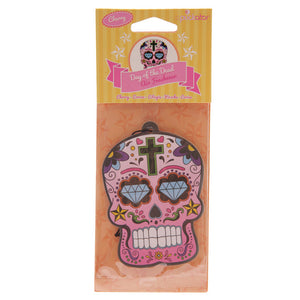 Mexican Skull Day of The Dead Cherry Air Freshener