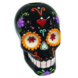 Day of The Dead Skull Tea Light Candle Holder