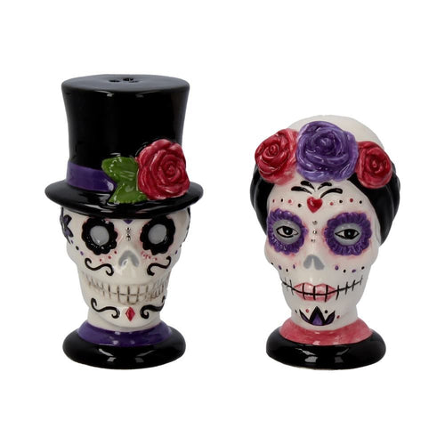 Day of the Dead Salt and Pepper Couple