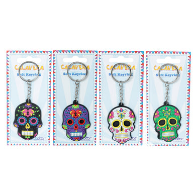 Funky PVC Day Of The Dead Key Ring