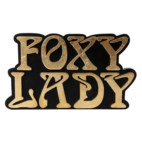Gold Foxy Lady Sign