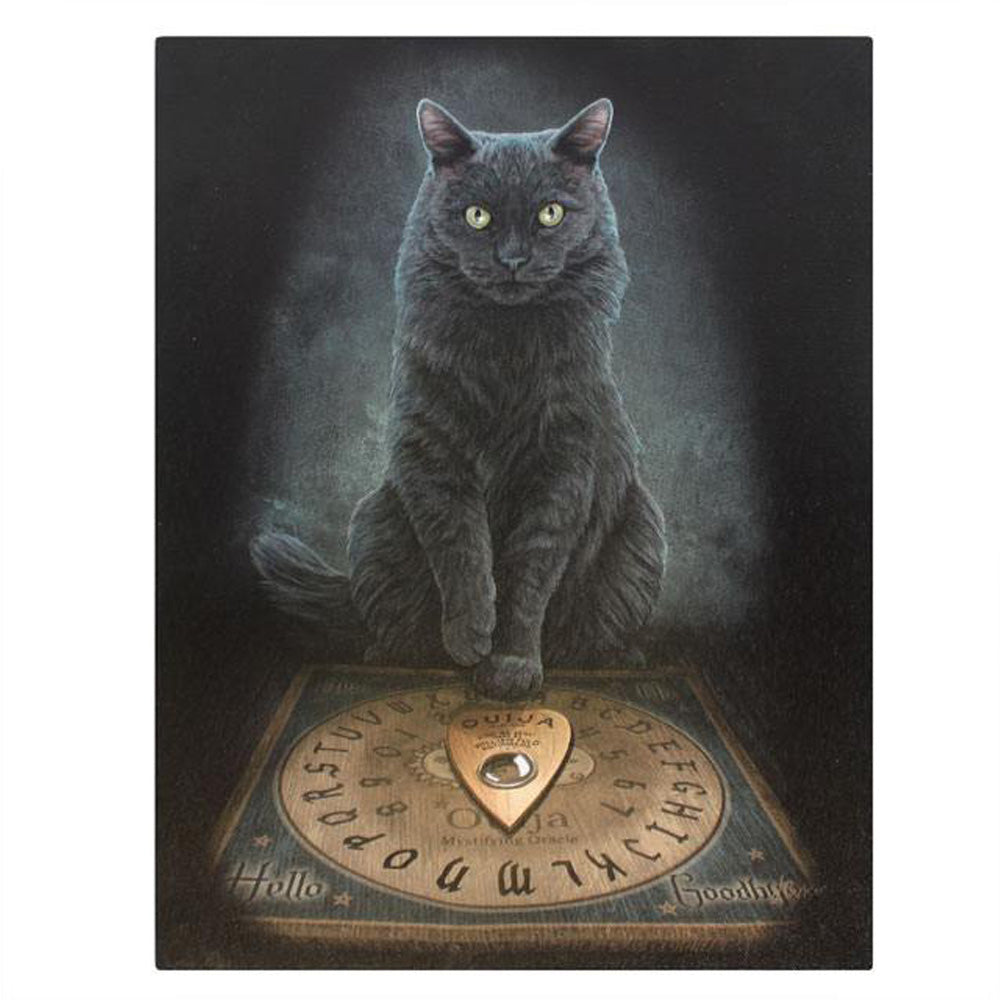 Ouija Board Cat Canvas Picture - His Masters Voice