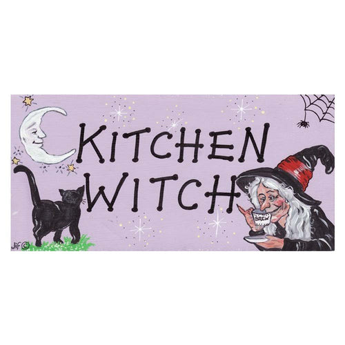 Kitchen Witch PVC Hanging Sign