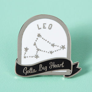 Leo Star Sign Enamel Pin