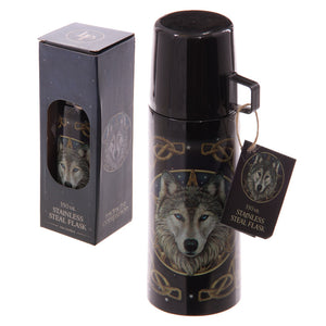 350ml Stainless Steel Lisa Parker Celtic Wolf Flask