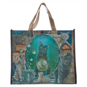 Lisa Parker Magic Cat Montage Shopping Bag