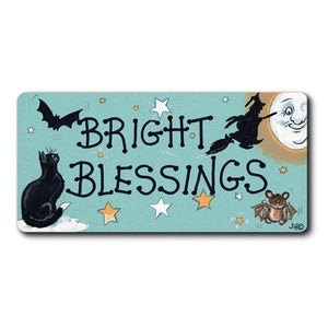Bright Blessings Witch Fridge Magnet