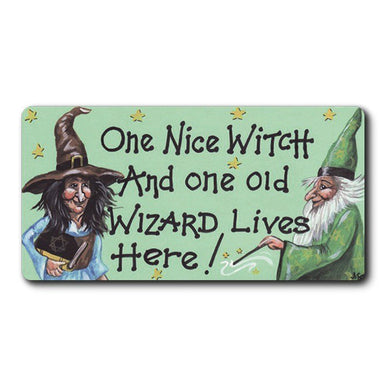 Witch and Wizard Fridge Magnet
