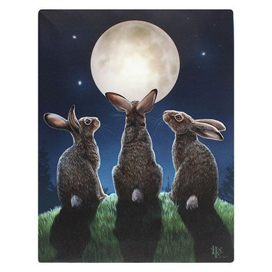 Moon Staring Hares Pagan Canvas Picture