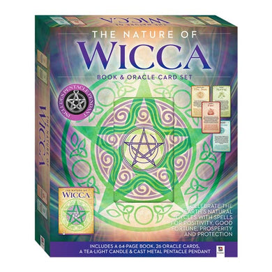 The Nature of Wicca Box Set - Book, Oracle Cards, Candle, Pendant