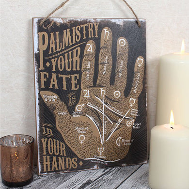 Wooden Palmistry Hanging Sign