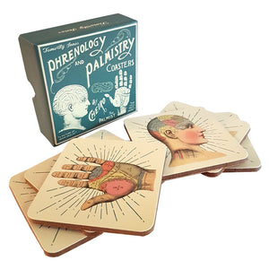 Phrenology and Palmistry Coasters and Gift Box