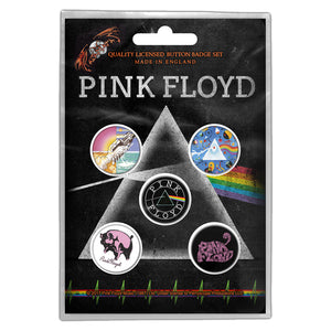 Pink Floyd Prism Button Badge Pack