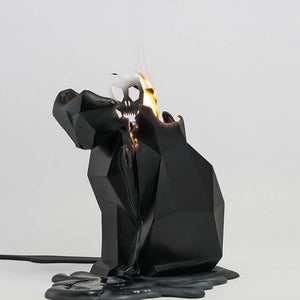Black PyroPet Kisa Cat Skeleton Candle
