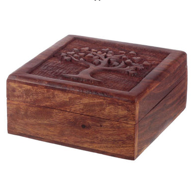 Sheesham Wood Tree of Life Trinket Box