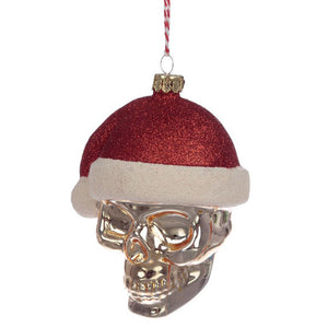Skull Santa Christmas Bauble
